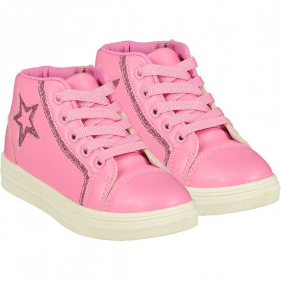ADee pink star high top trainer