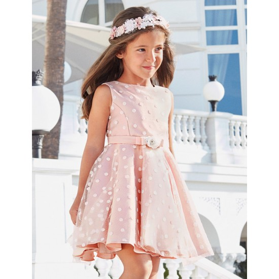 Abel and Lula Mikado Tulle Dress with Polka Dot