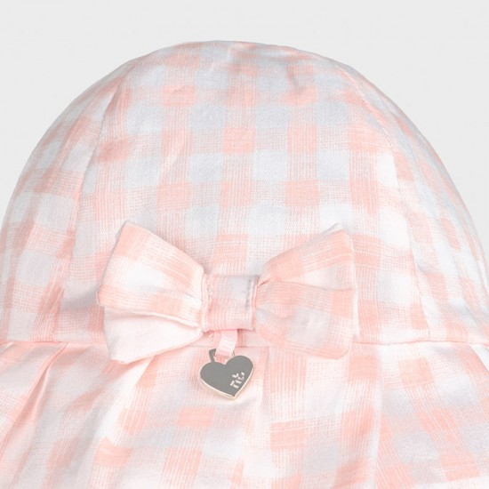 Mayoral Baby Girls Pink and White Check Sun Hat