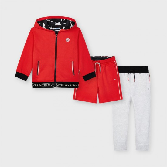 Mayoral Boys red 3 piece tracksuit