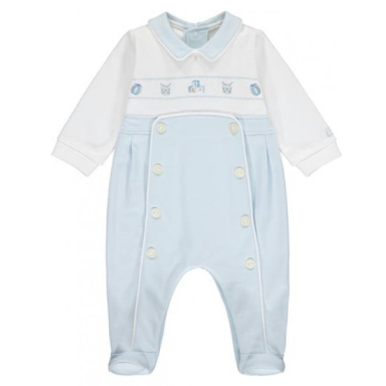 Emile et Rose Pale Blue and White All in One
