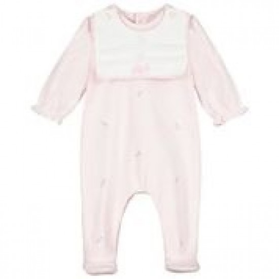 Emile et Rose Pale Pink Soft Pleat Bib All in One