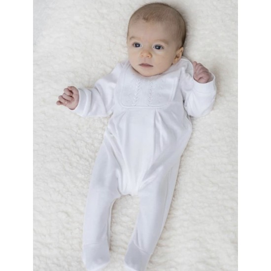 Emile et Rose Tiny Baby White All in One with Hat