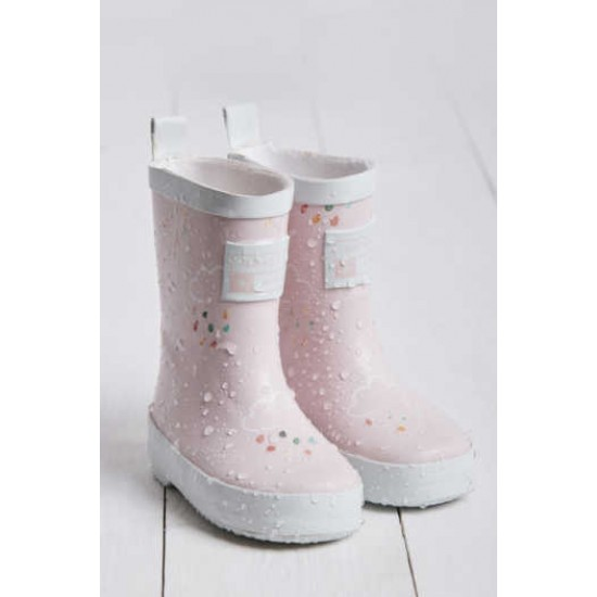 Grass and Air Pale Pink Wellies