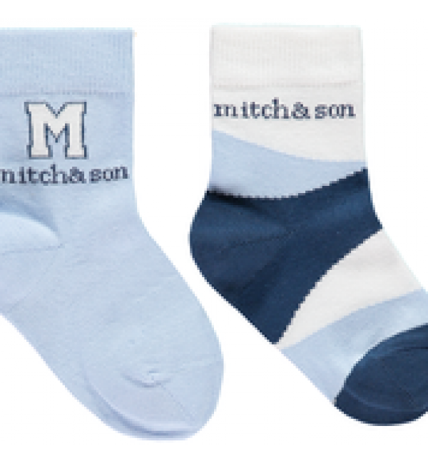 Pale Blue 2pack sock MS1043
