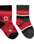 Red 2pack sock MS1044