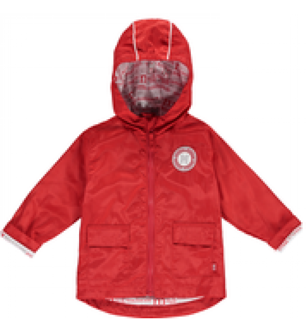 Mitch&son Print Lined Red Parka MS1102