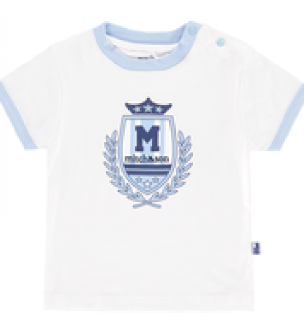 Mitch&son White Crest T-shirt MS1104