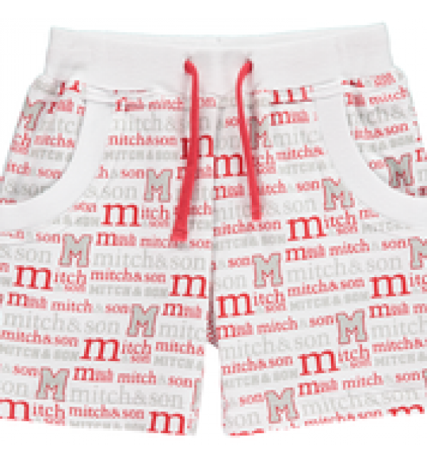 Mitch&son printed sweat short MS1124