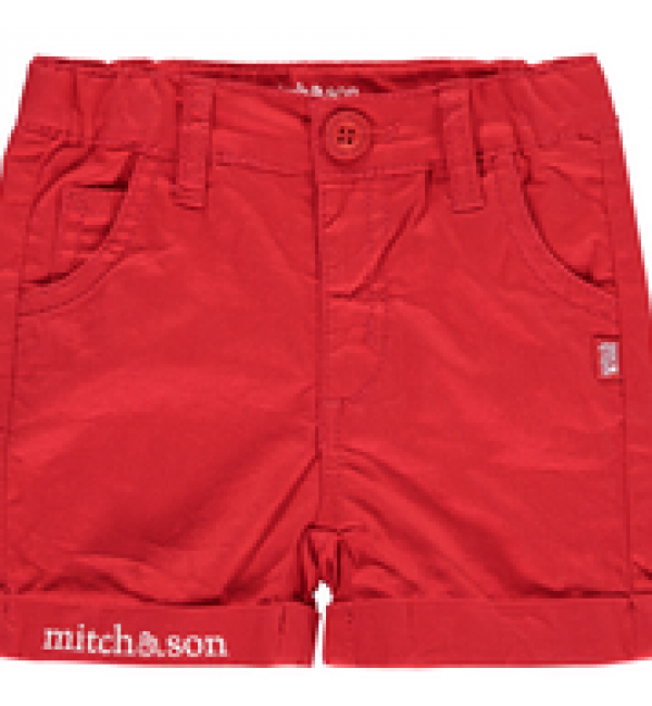 Mitch&son bright red twill shorts MS1127