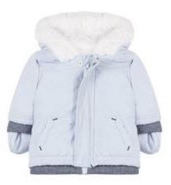 Absorba Boys Blue Fur Lined Jacket 9M42002