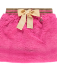 Hot Pink Fur Skirt