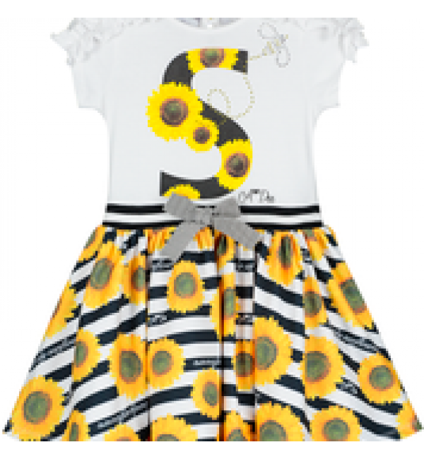 Adee Stripe Sunflower Dress S192703 Donna