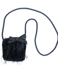 Navy Blue Feather Bag