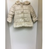 Mayoral Gold Padded Jacket with Fur Hem and Collar 4477