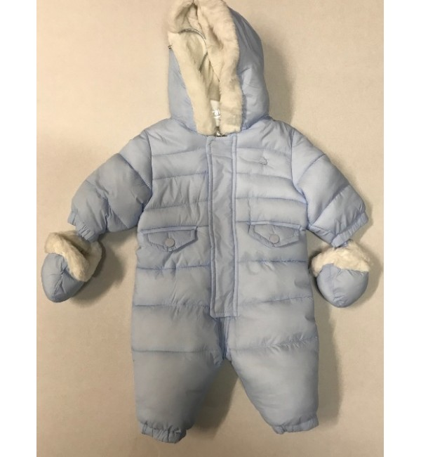 Mayoral Pale Blue Snowsuit