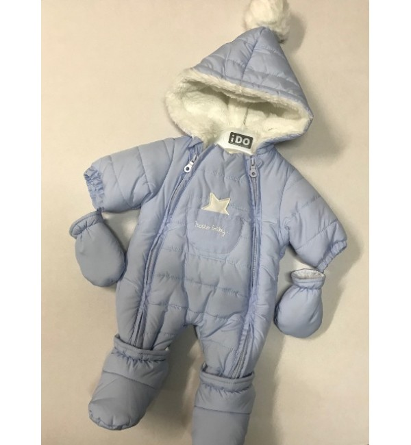 IDo Pale Blue Boys Snowsuit
