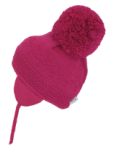 Belle Cerise Large Pom Pom Hat