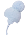 Belle Light Blue Big Pom Pom Hat