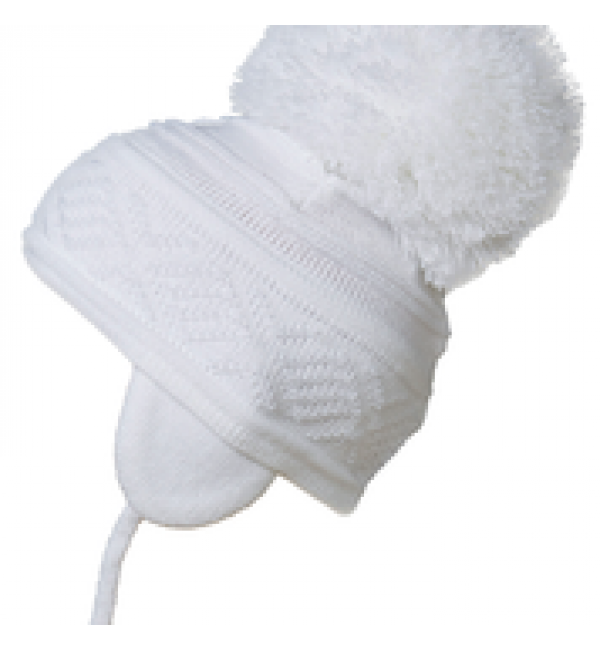 Satila big pom pom hat malva wh