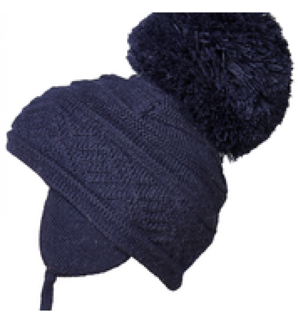 Satila big pom pom hat malva navy