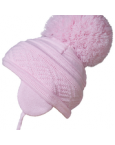 Satila big pom pom hat malva
