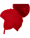 Satila big pom pom hat malva red