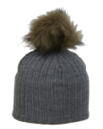 Nora Grey Hat with Contrast Pom Pom