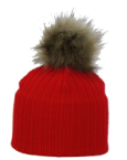 Nora Red Hat with Contrast Pom pom