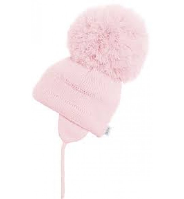 Satila of Sweden Extra Large Pom Pom Hat in Pink