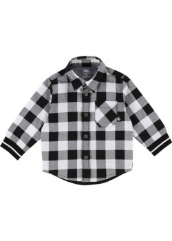 Timberland Black and White Check Shirt
